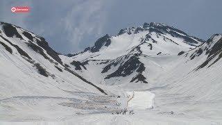 На снежнике Вилючинского вулкана собрались лучшие российские сноубордисты.
