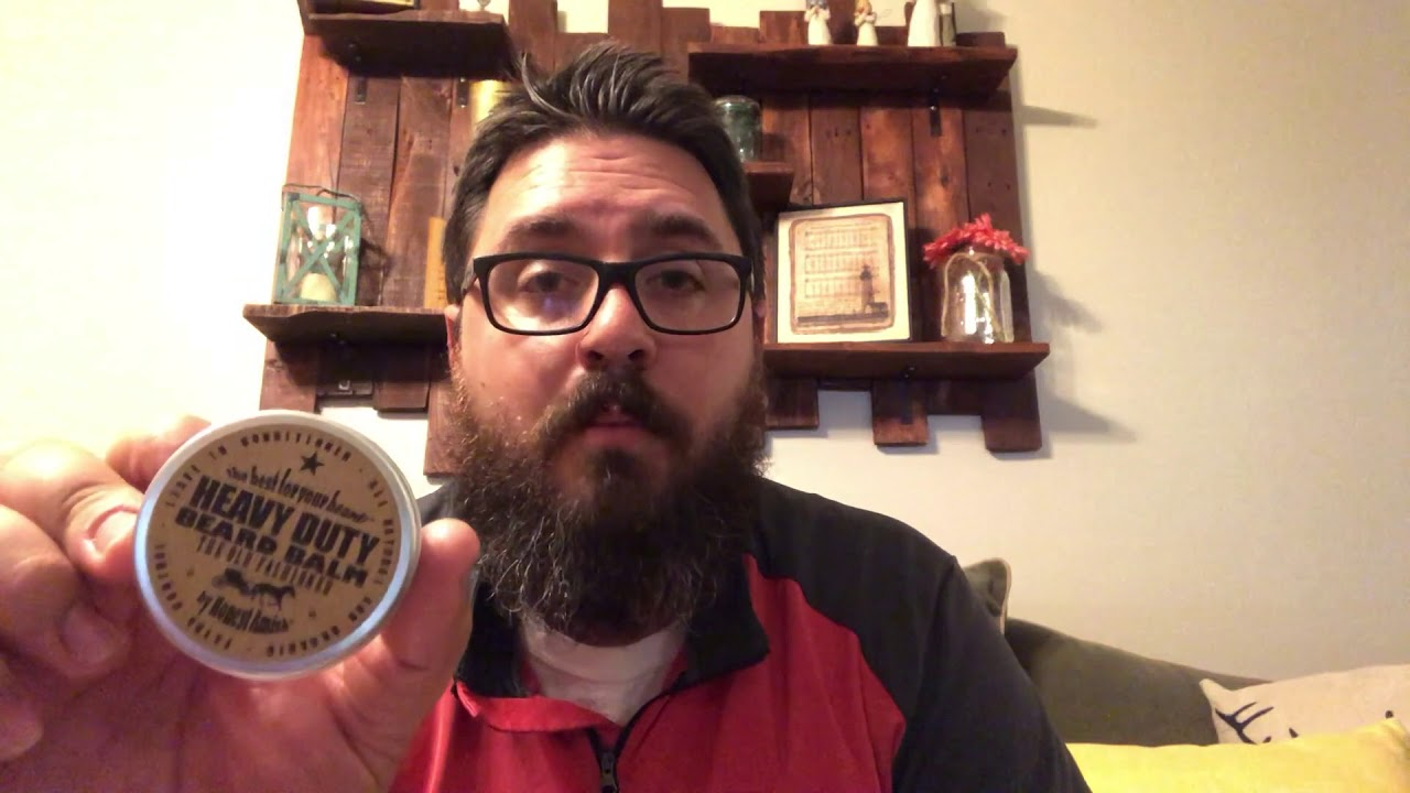 Honest Amish Beard Product Review!!! Beard Balm and Heavy Duty Beard Balm  Review!!!