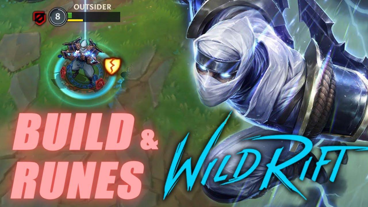 LOL MOBILE SHOCKBLADE ZED GAMEPLAY (FAST COMBO) | Build & Runes - Wild Rift OUTSIDER