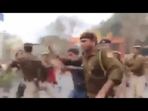 lathi charge on ssc aspirants in jaipur