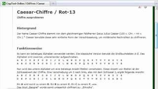 Chiffre: Rot13-Beispiel - (Java 2-003)