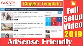 Faster Fast Loading Blogger Template Full Setup Video Tutorial-21 [desimesikho] 2019