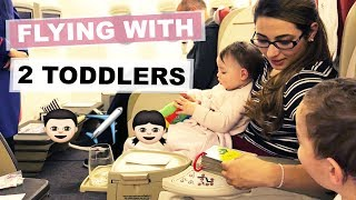 TIPS FOR FLYING WITH 2 TODDLERS | LONG HAUL FLIGHT TIPS WITH A BABY | Ysis Lorenna