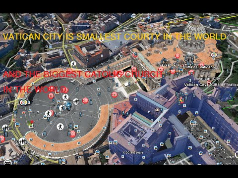 Vatican City Tour From Google Earth View, Vatican Catholic Biggest Church