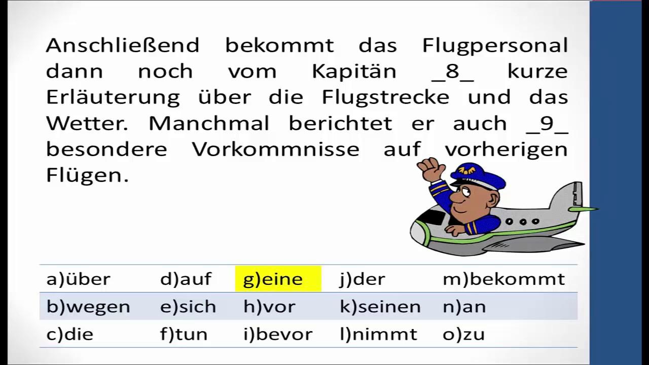 Prüfungsvorbereitung Zertifikat B2 Sprachbausteine