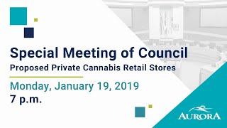 Youtube video::January 21, 2019 Special Meeting of Council
