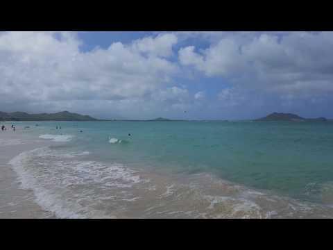 In the Water at Kailua Beach, Great Family and Kids Beach, near Honolulu, on Oahu, Hawaii