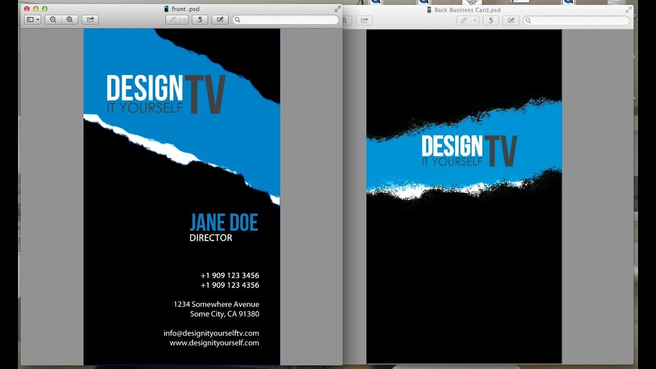 Design Your Own Business Card From Scratch Youtube