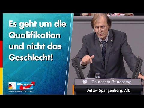 Es geht um die Qualifikation und nicht das Geschlecht! - Detlev Spangenberg - AfD-Fraktion