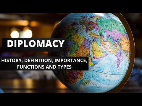 International Relations: Diplomacy |History |Definition |Importance |Functions & Types of Diplomacy