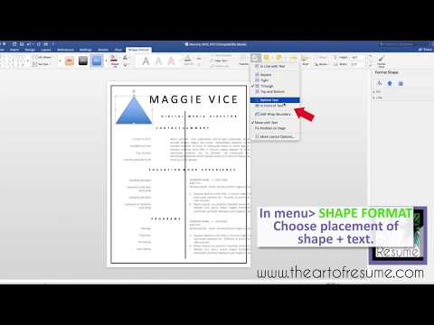 Creating Shapes in Microsoft Word