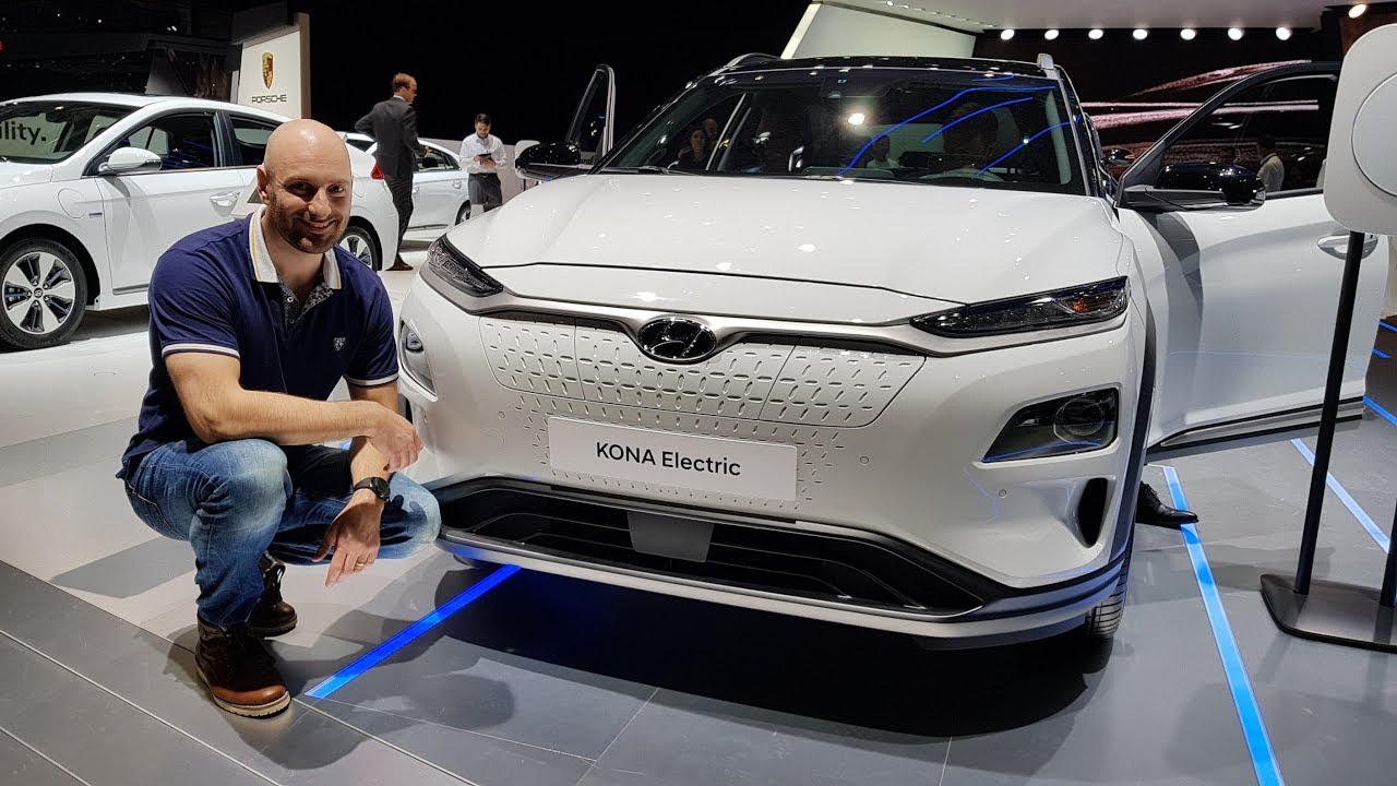 hyundai kona ev geneva motorshow youtube. Black Bedroom Furniture Sets. Home Design Ideas