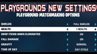 FORTNITE - 6.01 PATCH NEW PLAYGROUND MODE SETTINGS AND ANTI GRAVITY MODE GAMEPLAY