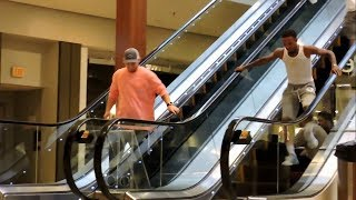 Touching Hands On The Escalator Prank (Gone Wrong)
