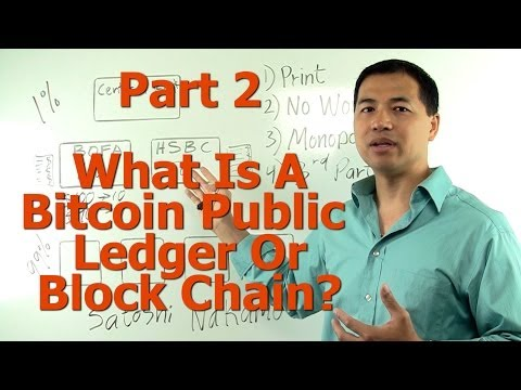 Part #2 - What Is A Bitcoin Public Ledger Or Block Chain? - (Bitcoin For Non-Technical People)