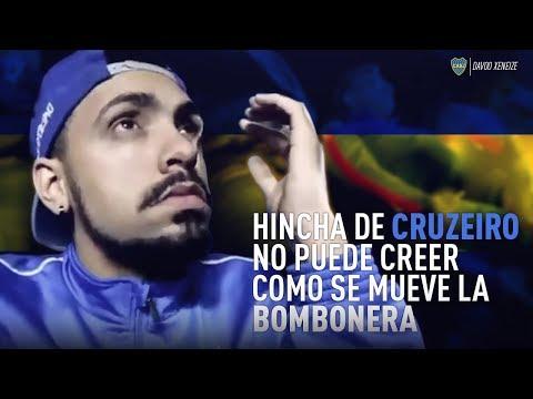 Hincha de Cruzeiro no puede creer como se mueve La Bombonera