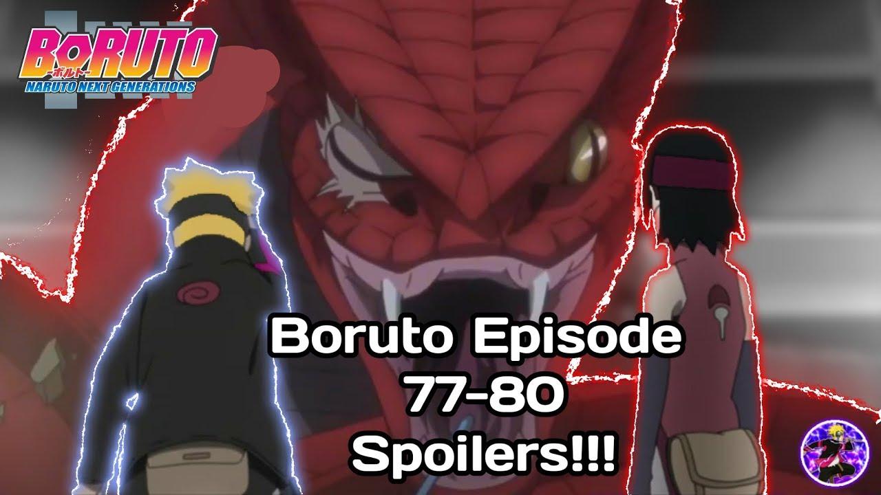 Boruto Episode 77 80 Spoilers Youtube