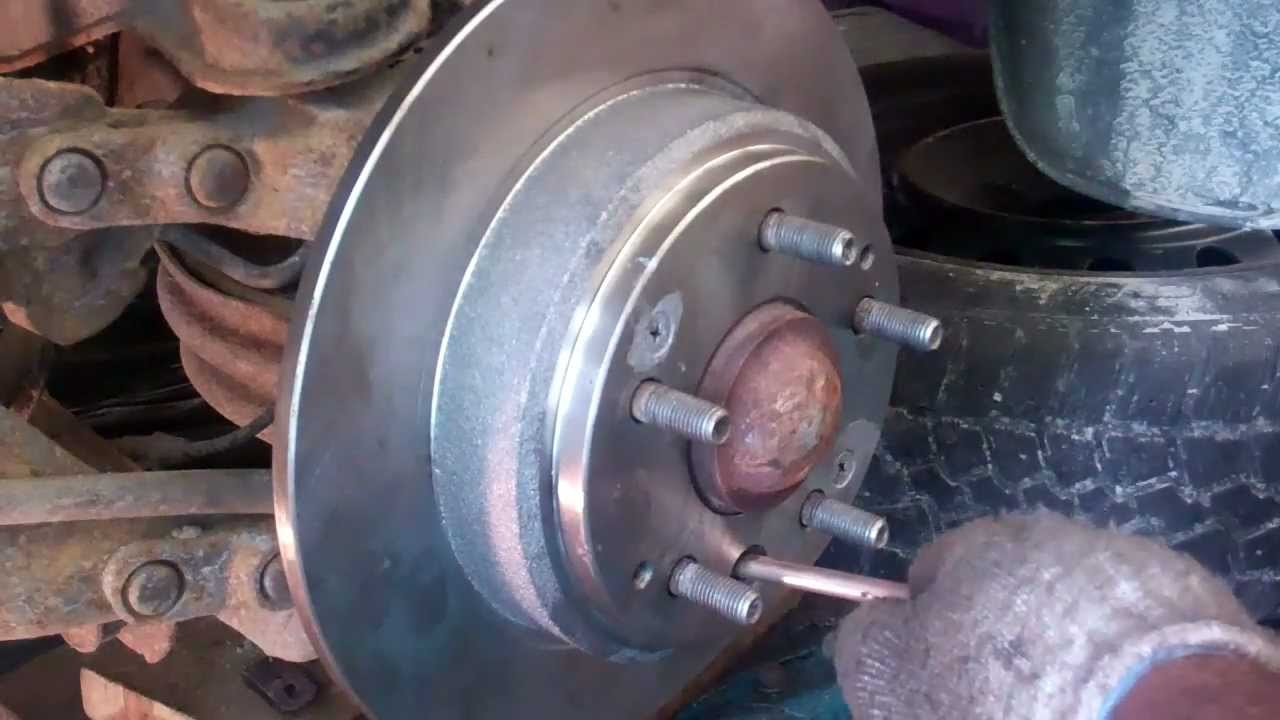 Releasing Safety Brake To Change A Rear Rotor Youtube