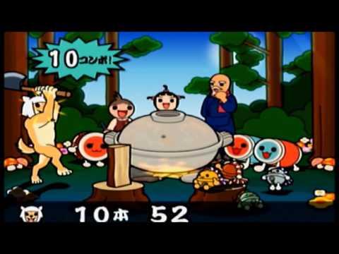 【PS2 Taiko no Tatsujin】minigame Chopping wood +Flash Game