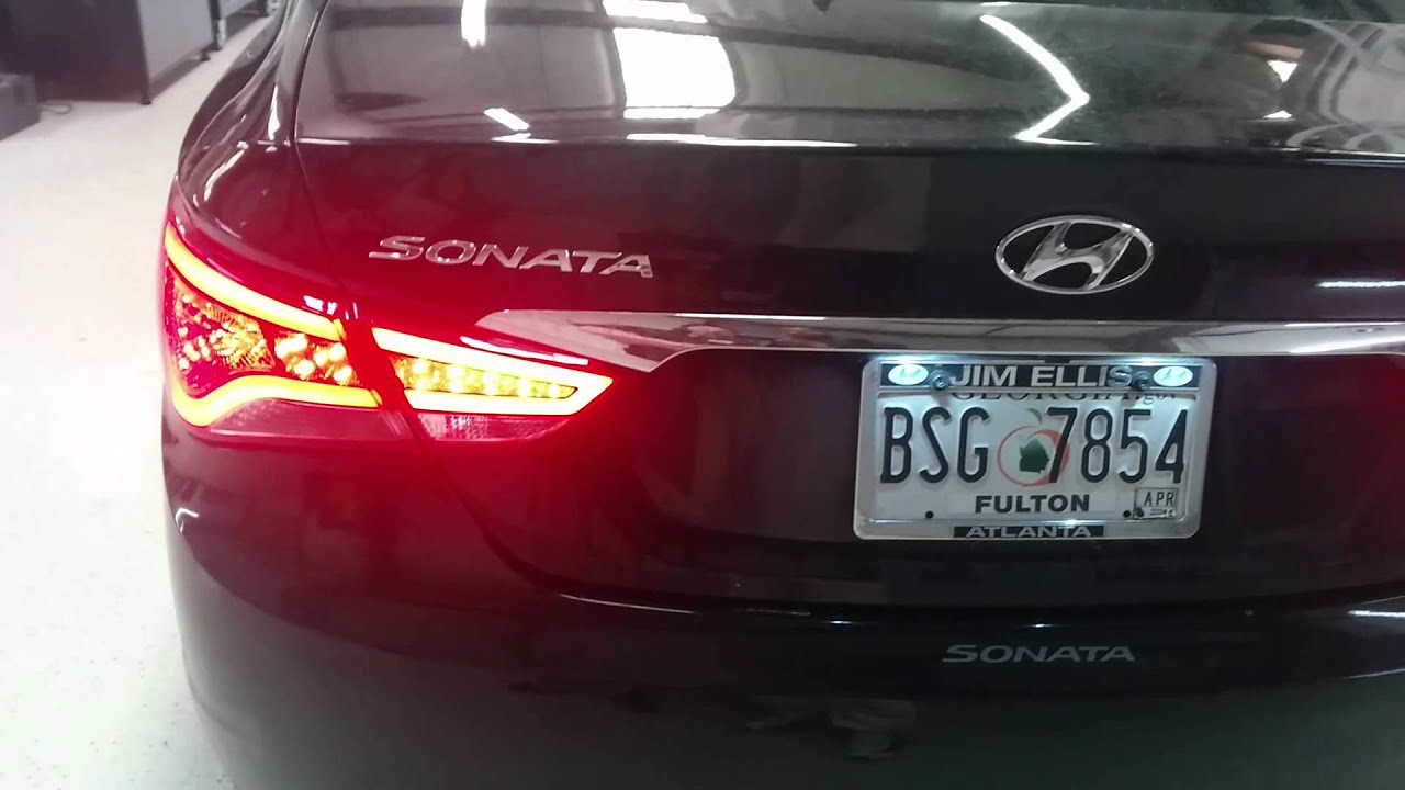 2011 Hyundai Sonata Led Tail Lights Youtube