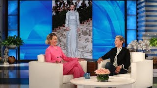 "Sarah Paulson admitted to Ellen it was a daily struggle not to embarrass herself (and sing) in front of her new friend Rihanna while filming their movie, ""Ocean's ..."