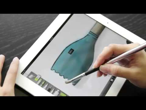 sensu portable artist brush stylus for touchscreen devises youtube