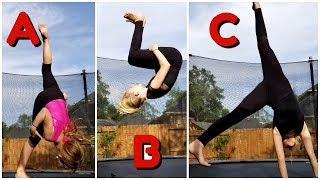 Sis vs Sis ABC Gymnastics Challenge!!! - Magic Box