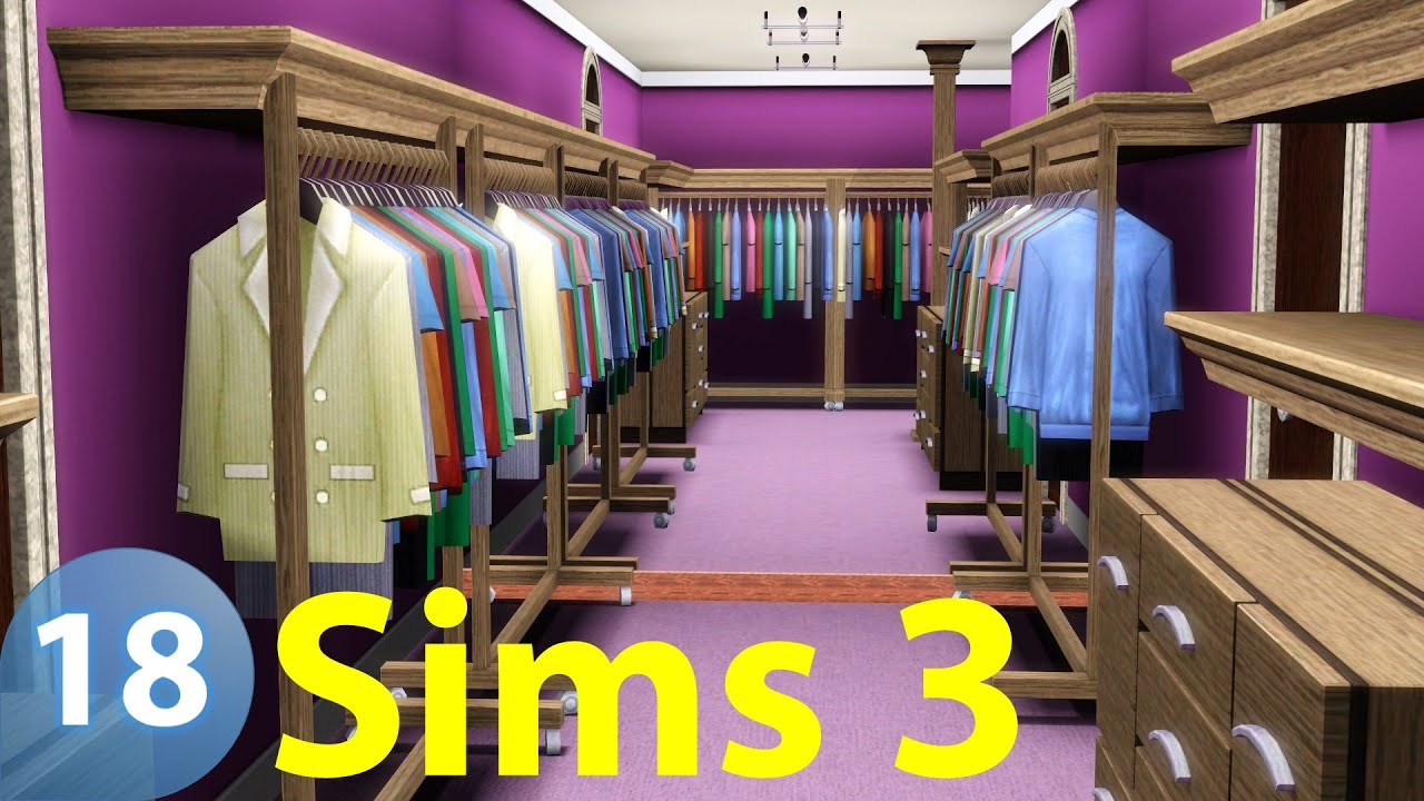 The Sims 3 Master Suite 1st Closet Top Of The Hill Castle 18 Let S Build Youtube