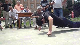 Most two finger push ups in one minute 61 World Records.
