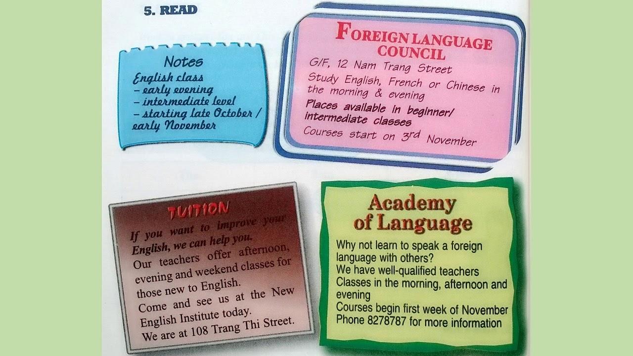 Bài Nghe Tiếng Anh Lớp 9 Unit 4 Read