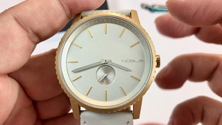 The Director watch with gold PVD and gray leather by Noble Timepieces review and giveaway