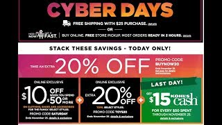 Best Kohls Cyber Monday Deals!!