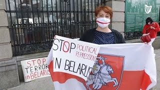 'Please don't forget about us' – Members of Ireland's Belarusian community arrive at Leinster House