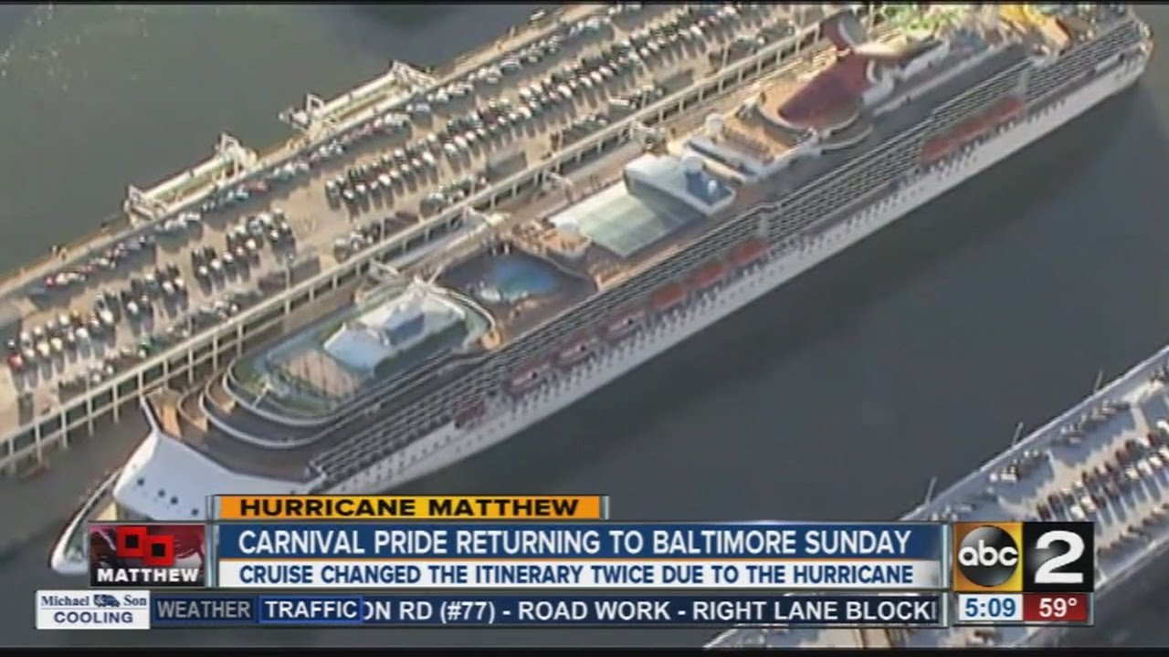 Carnival Cruise Ship Returns To Baltimore Due To Hurricane YouTube - Cruise ships that leave from baltimore md