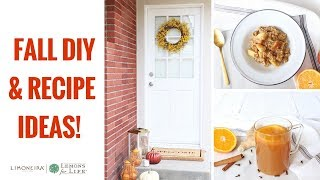 October: Fall Door Decor, Slow Cooker Apple Orange Oatmeal & Citrus Apple Cider