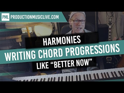 """Writing a CHORD PROGRESSION in A-Dorian over POST MALONE`S """"Better Now"""" - free Samples"""