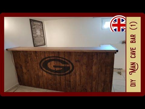 Homemade Bar For Your Man Cave Part 1 Diy Bar Youtube