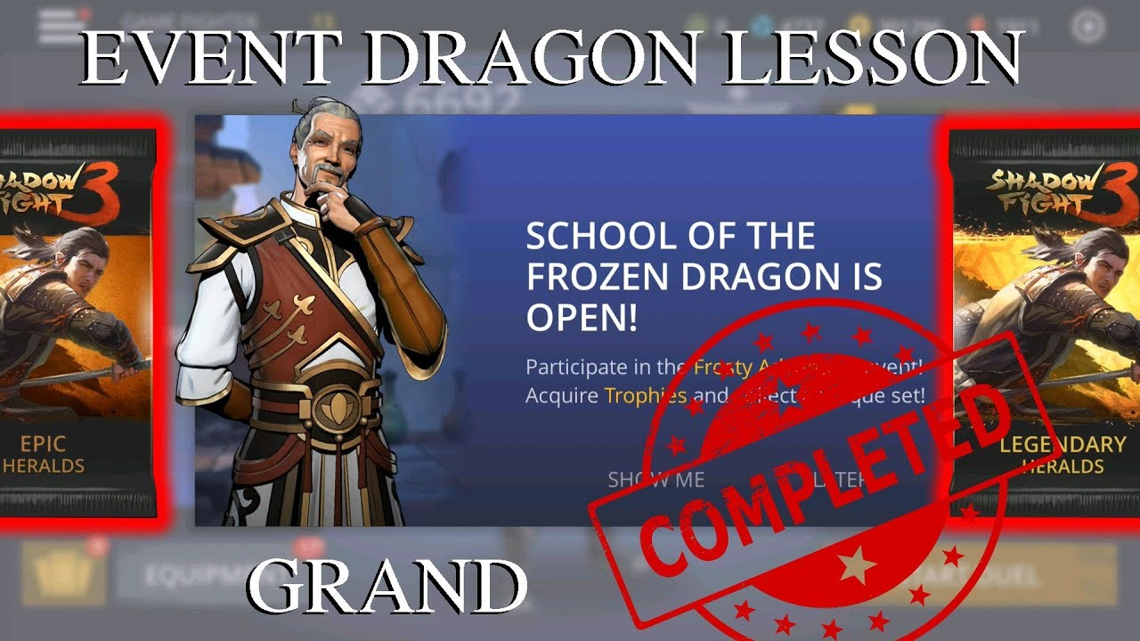 Shadow Fight 3 Update Event Dragon Lesson || Grand Completed √