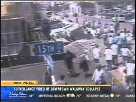 San Diego Downton Walkway Collapse Incident - News 8