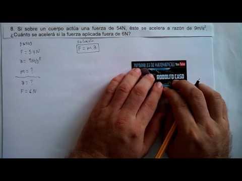 7-8.  APLICACIÓN DE LA SEGUNDA LEY DE NEWTON. F=m a