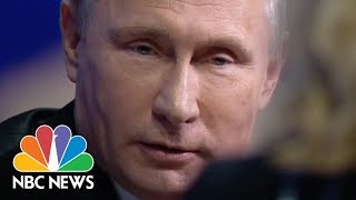Megyn Kelly Questions Vladimir Putin On Election Interference | NBC News