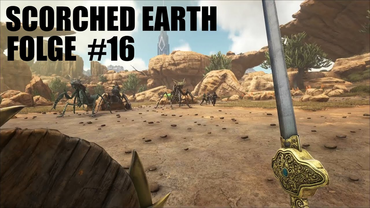 ARK: SCORCHED EARTH - DLC #16 UNDER CITY CAVE SWORD SKIN | Let´s Play  Deutsch | German