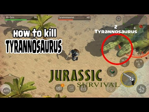 HOW TO KILL TYRANNOSAURUS - Jurassic Survival !!