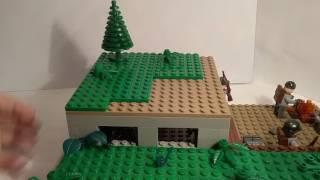 Лего самоделка #35 на тему Вторая Мировая (бункер и окоп)