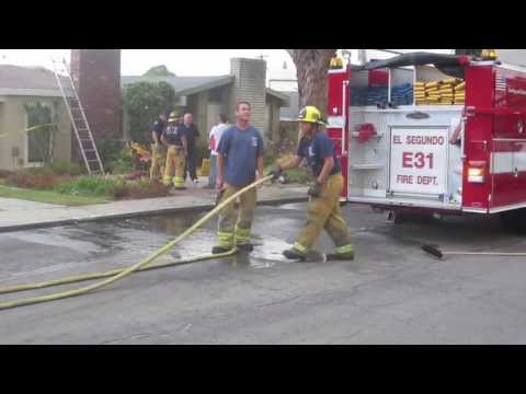 El Segundo Fire Department Cleans Up After Call