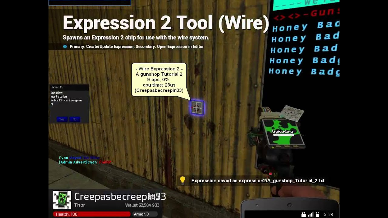 Wire Cpu Gmod Center 75 Mm2 Motorcycle Wiring Harness Txl Cable H4 3 Hole Female Connector E2 Automatic Gunshop Coding Tutorial Youtube Rh Com