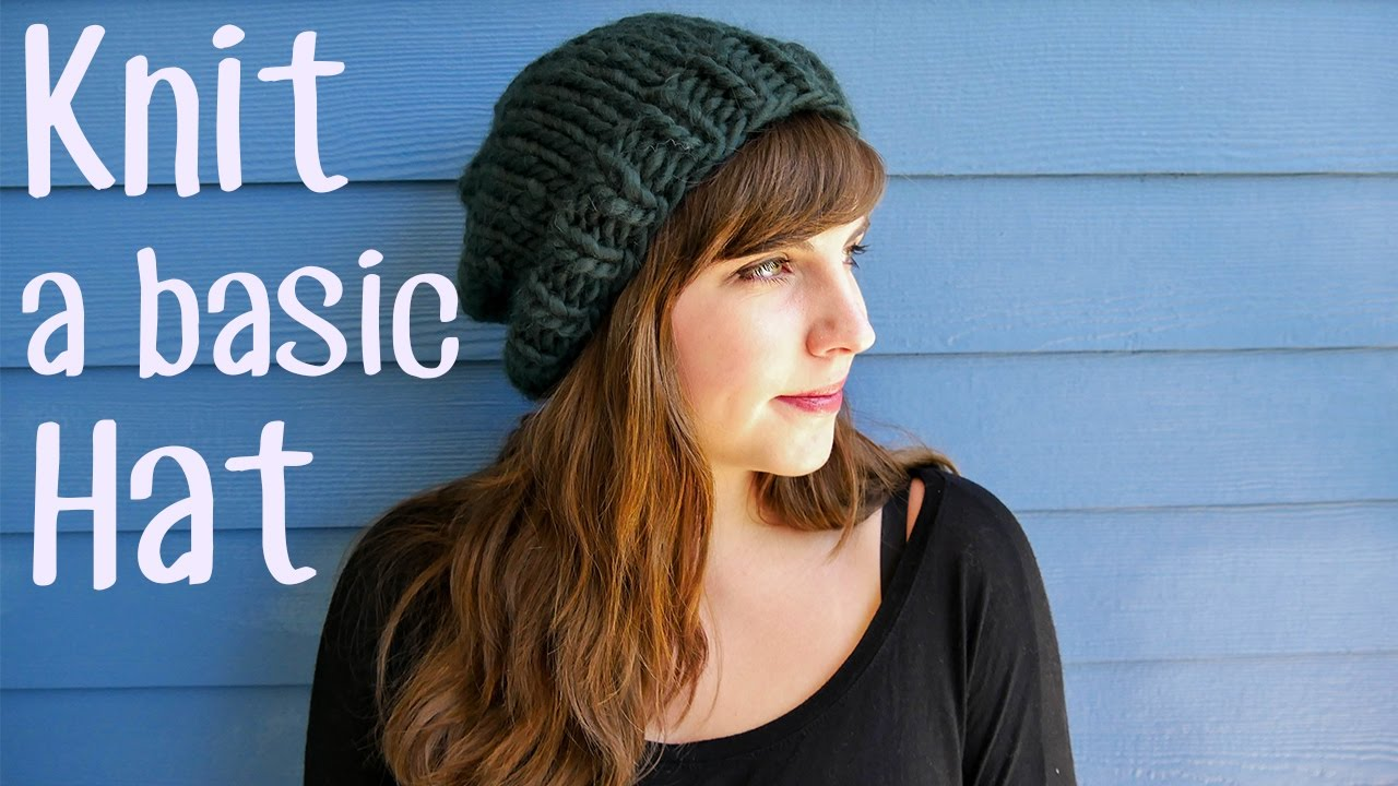 c6702957b31 How to Knit a Basic Hat - YouTube