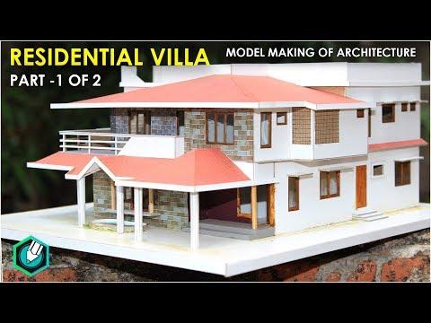 MODEL MAKING OF TRADITIONALvilla (Kerala home design) part 1