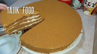 Торт медовик! Пышный и мягкий!Без раскатки коржей☆ Honey cake, so delicious!