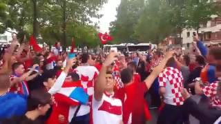 amazing atmosphere between turkish and croatian fans celebrating together croatia vs turkey euro